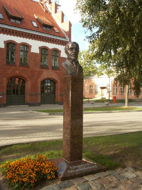Monument to Ernestas Galvanauskas