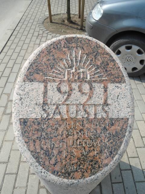 Kolonos Vilties gatvėje plokštuma su užrašu