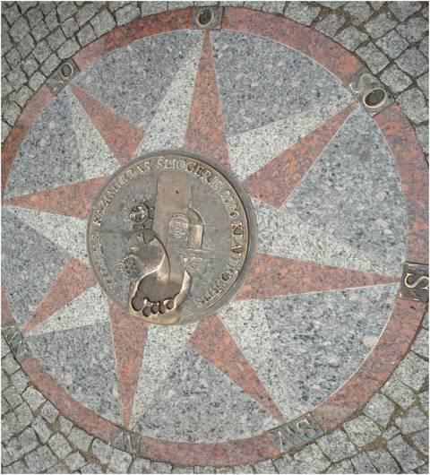 Memorial flagstone – foot: Vytautas Kazimieras Šliogeris