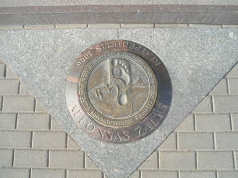 Memorial flagstone – foot: Alfonsas Žalys