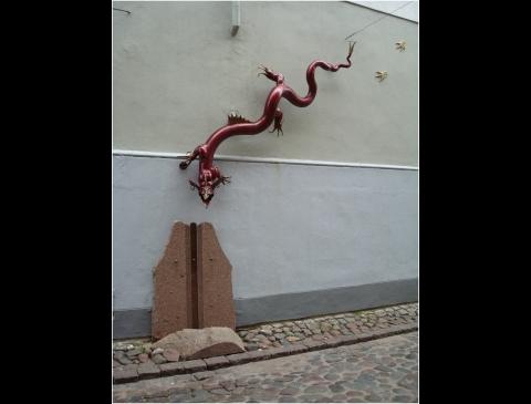 "Skulptūra ""Slibinas"""
