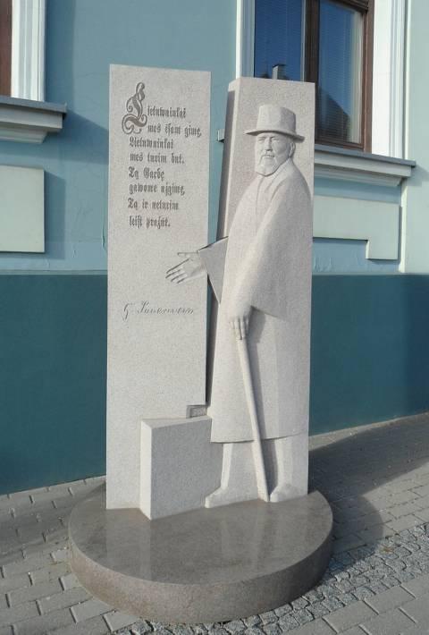 Skulptūra Jurgiui Zauerveinui