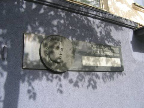 The Commemorative Bas-Relief Plaque, Dedicated to Julius Janonis