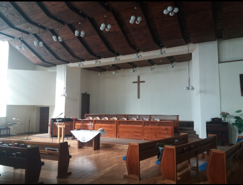 Klaipėdos baptistų bažnyčios vidus