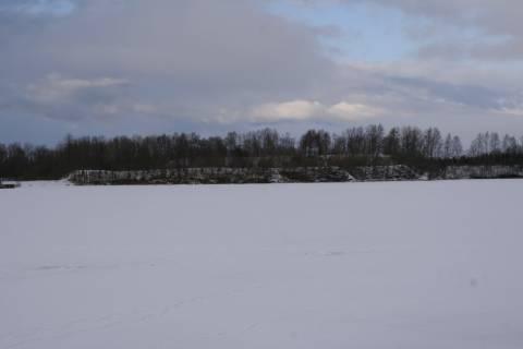 Eketės piliakalnis iš pietų pusės