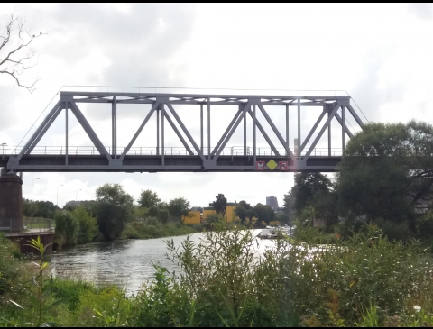 Railway bridge over Dangė river