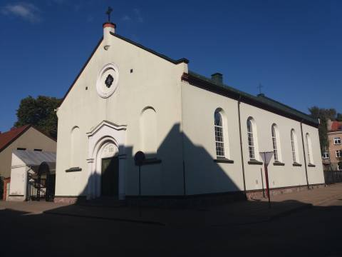 Die Kirche der Irvingianer von Klaipėda (ehemalige katholische Christ-Königs-Kirche)