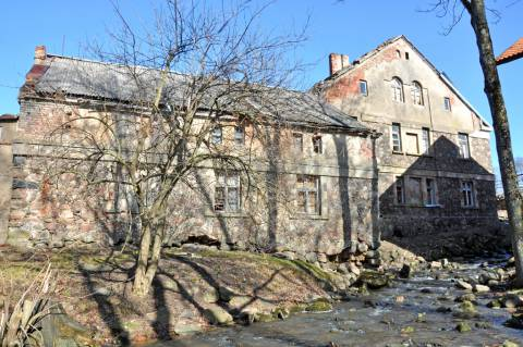 Kretingos dvaro ūkvedžio namo pietinė pusė iki restauravimo