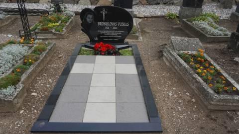 Žemaičių apygardos partizanų ryšininko Bronislovo Poškaus kapas
