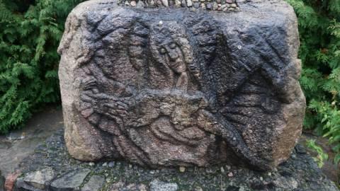 Salantų paminklo  lietuvių kančioms atminti Pietos horeljefas