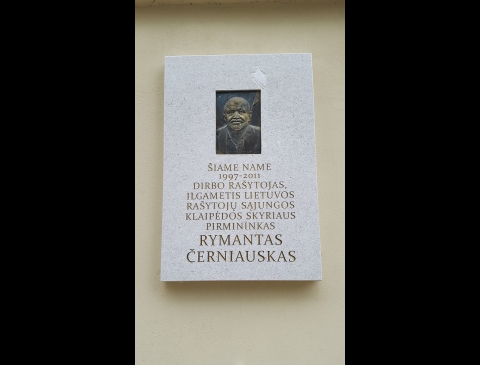 Memorial Board for Rimantas Černiauskas