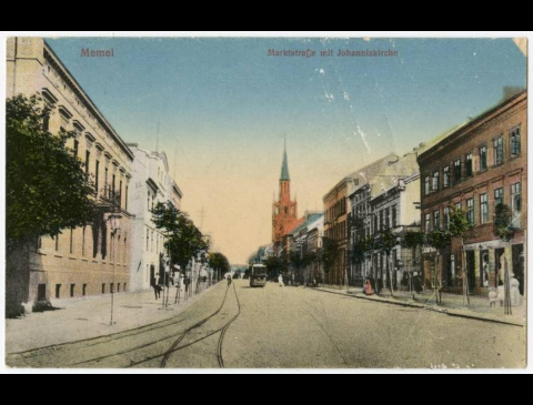Memel : Marktstraße mit Johanniskirche