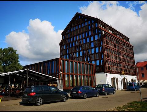 Buvęs ryžių malūnas, dabar viešbutis