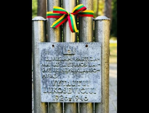 Kryžius partizanui Vytautui Lukoševičiui-Lizdeikai