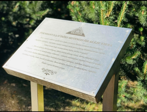 Memorial Board for the First Meeting of the Reform Movement of Lithuania in Šilalė District