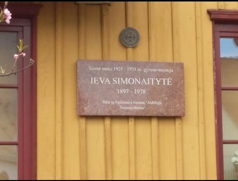Atminimo lenta Ievai Simonaitytei