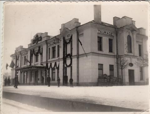 Дворец железнодорожного вокзала Таураге