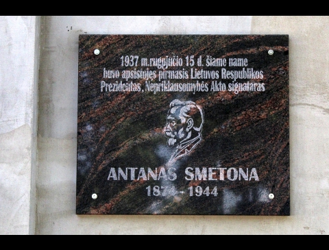 Memorial Plate for Antanas Smetona