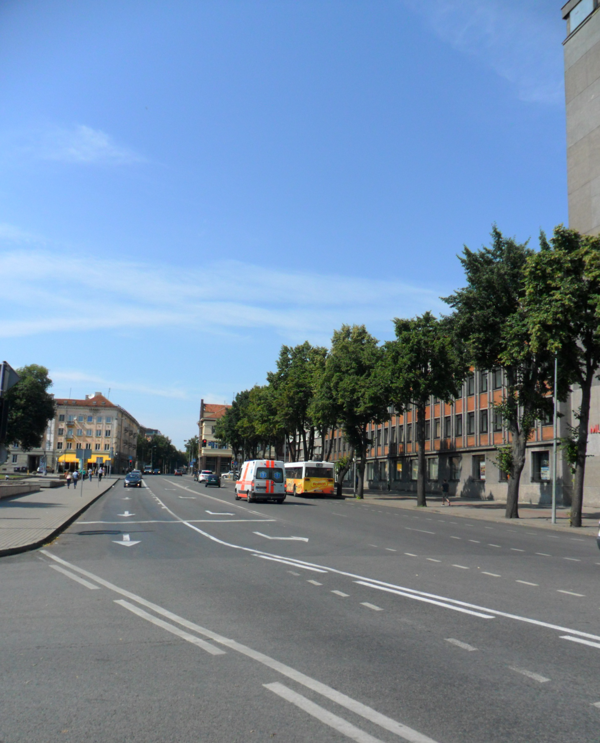 Biržos gatvės vaizdas