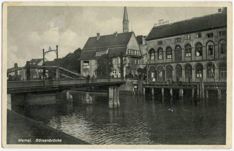 Memel. Börsenbrücke