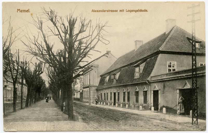 Memel Alexanderstrasse mit Logengebäude