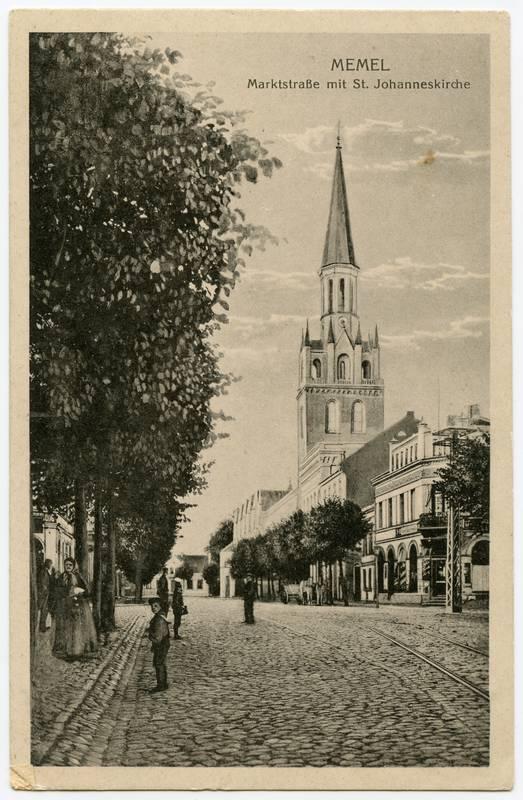 Memel Marktstrasse mit St. Johanneskirche