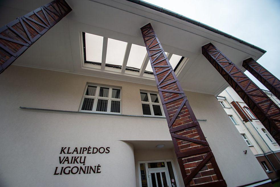 Klaipėdos vaikų ligoninės fasado fragmentas