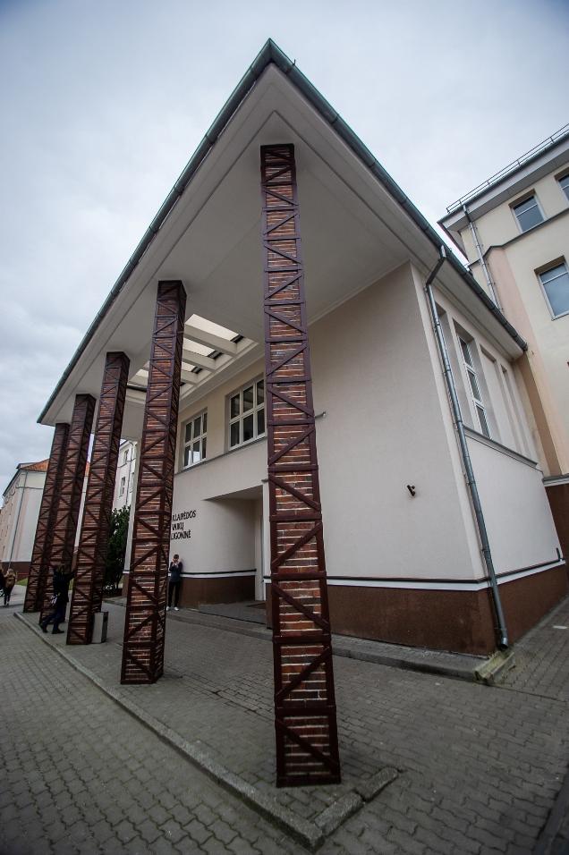 Klaipėdos vaikų ligoninės pastato fragmentas