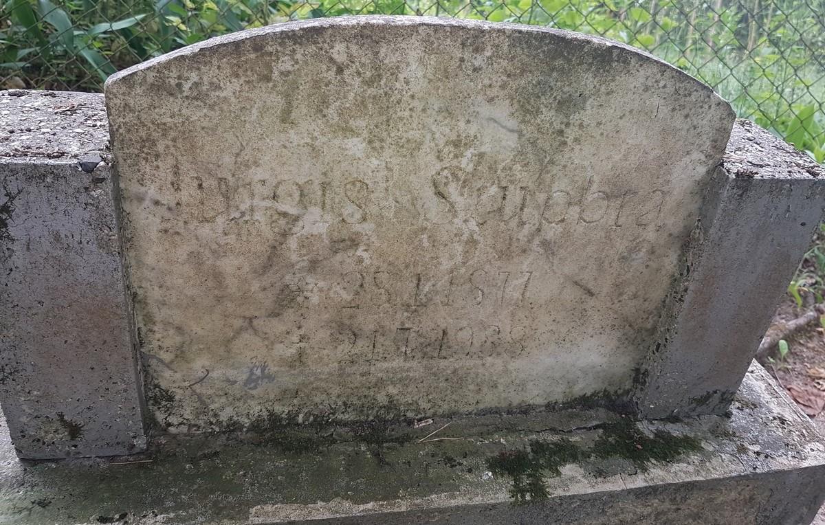 I. Simonaitytės tėvo Jurgio Stubros kapas Žiaukų kaimo senosiose kapinėse