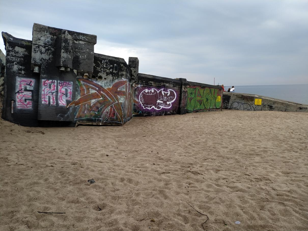 "Baterija ""Nordmole"" Melnragės paplūdimyje"