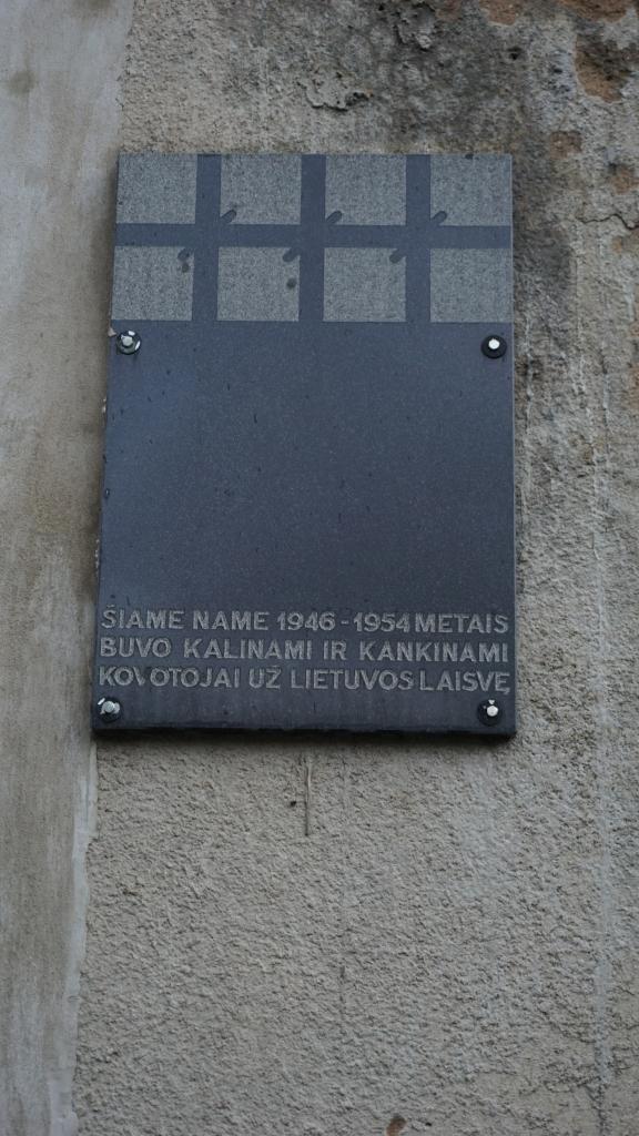 Atminimo lenta kovotojams už Lietuvos laisvę Salantuose