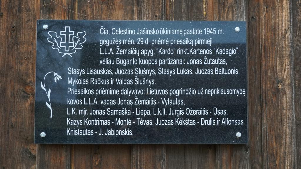 Atminimo lenta Kartenoje Kadagio kuopos 70-mečiui