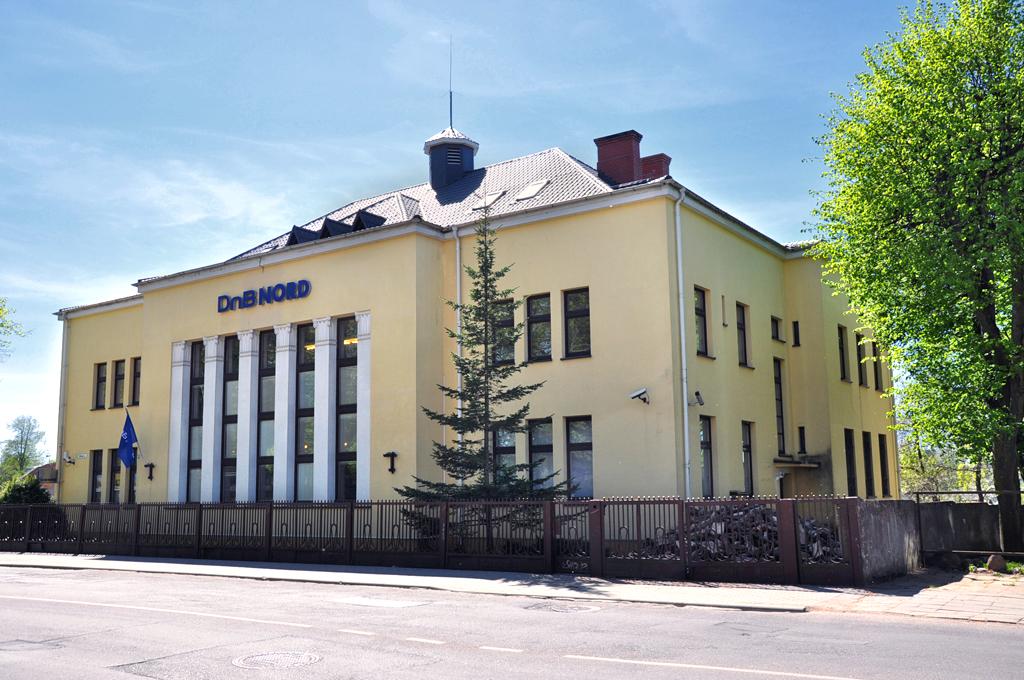 Kretingos banko rūmai iš šiaurės pusės