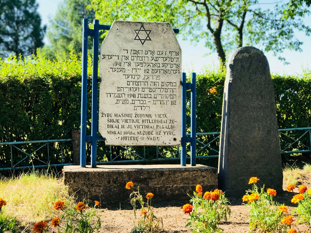 Žydų žudynių vieta. Žydų kapinės