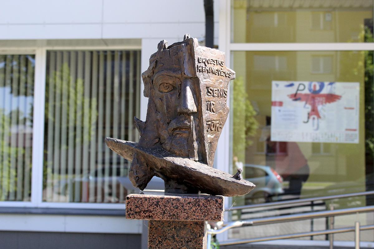 """Skulptūrinis ekslibrisas Ernesto Hemingvėjaus kūriniui """"Senis ir jūra"""""""