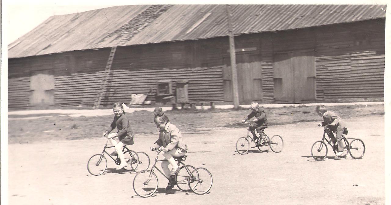 Triratukų lenktynės šalia nugriautų dvaro arklidžių