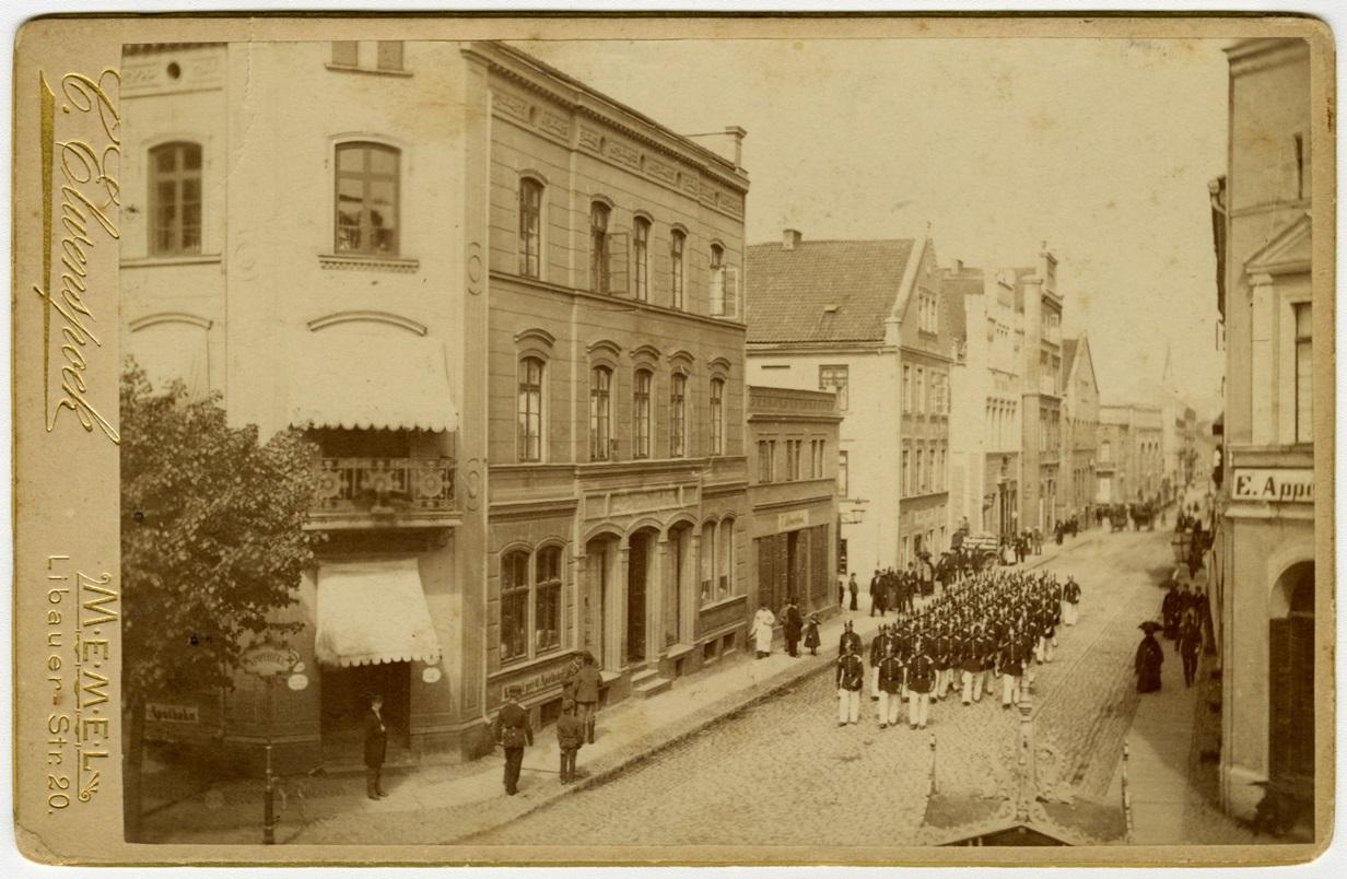 Friedrich-Wilhelm-Straße, Ecke Marktstraße. Blick Richtung Börsenbrücke