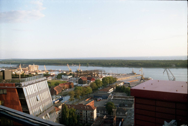 Klaipėdos uosto panorama nuo K-centro stogo