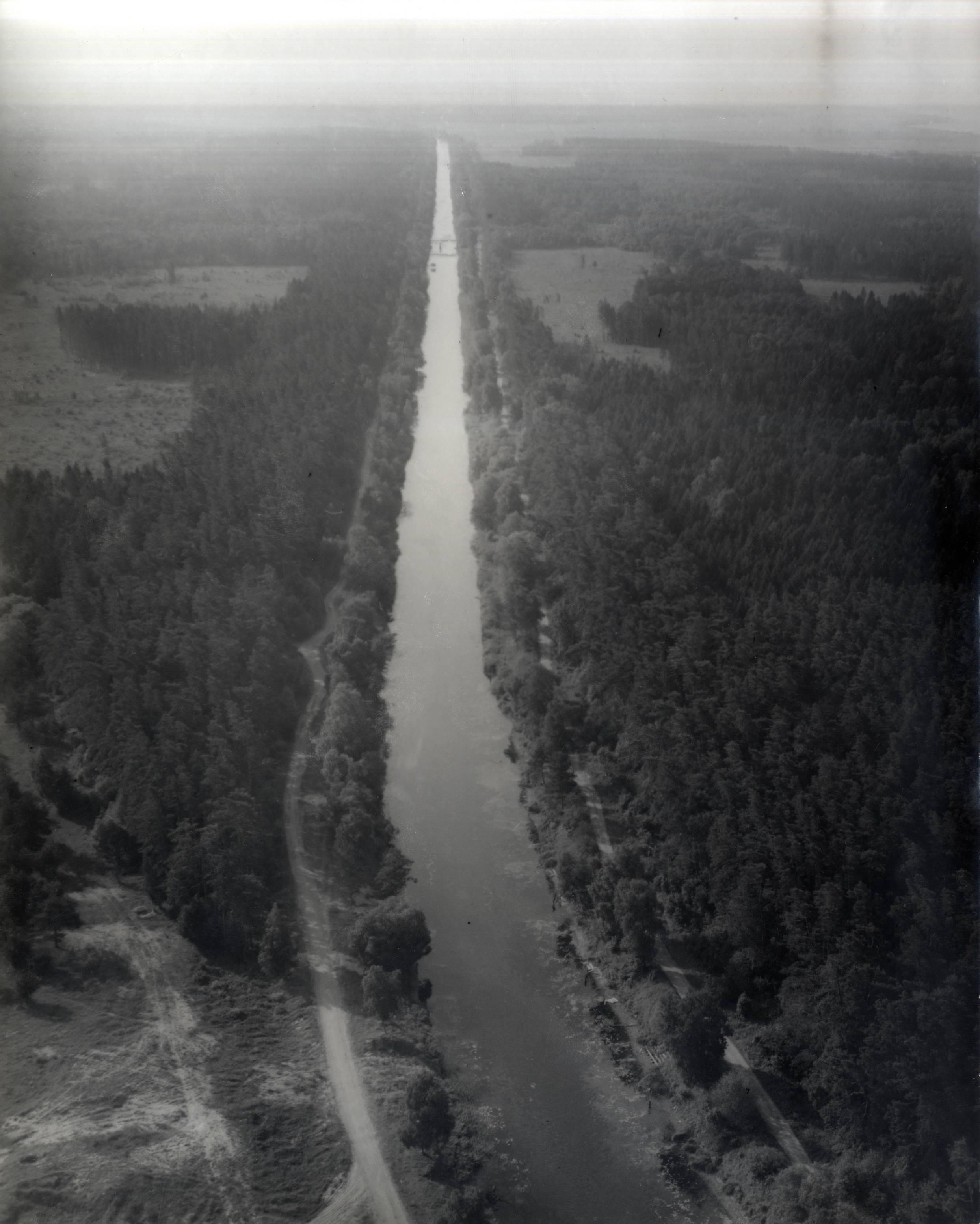 Karaliaus Vilhelmo kanalas iš paukščio skrydžio